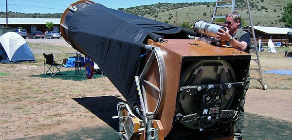 self-built telescope